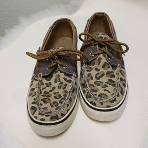 Sperry Top Sider Womens Animal Print Boat Shoes